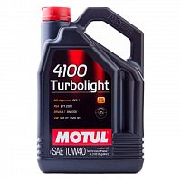 Моторное масло Motul 4100 Turbolight 10W-40 4L