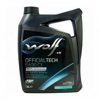 Моторное масло Wolf 5W30 Officialtech C3 4L