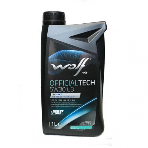 Моторное масло Wolf 5W30 Officialtech C3 1L